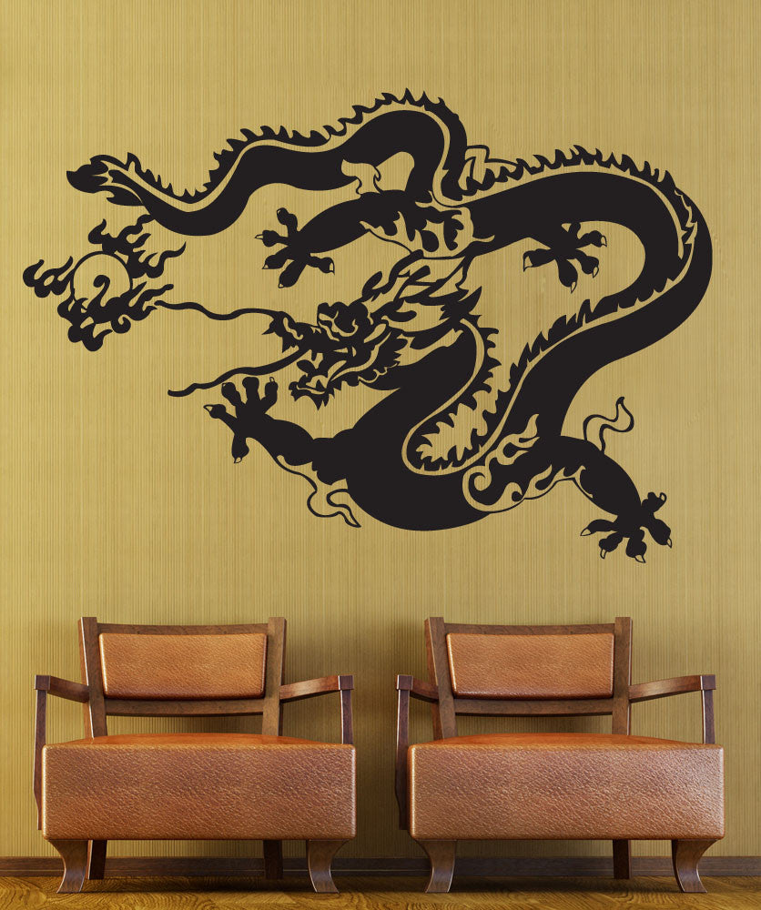 Vinyl Wall Decal Sticker Chinese New Years Dragon #1276
