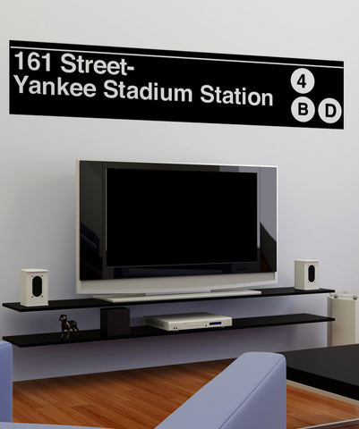 Vinyl Wall Decal Sticker Yankee Stadium Subway Sign #1284