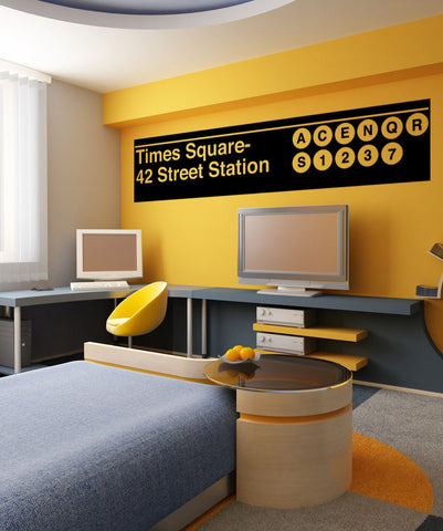 Vinyl Wall Decal Sticker Times Square Subway Sign #1288