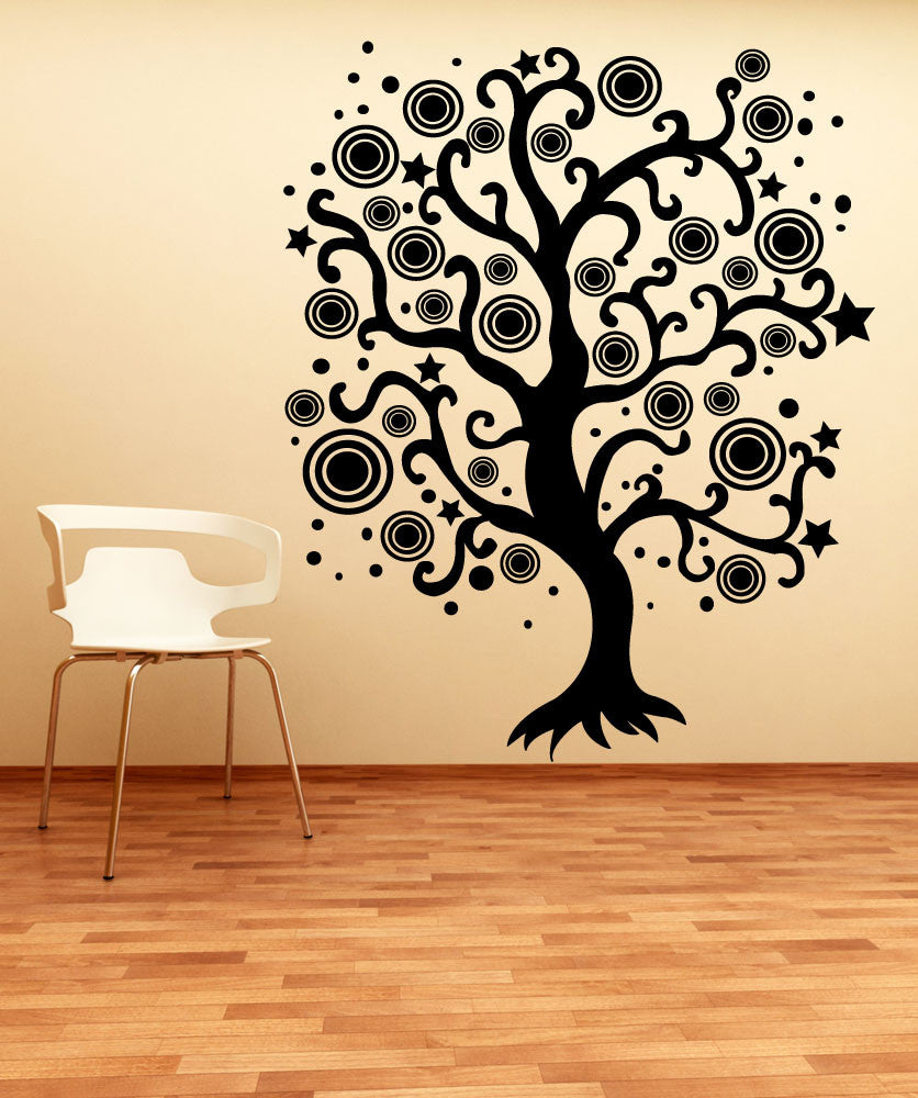 Vinyl Wall Decal Sticker Abstract Star Tree - Vinyl wall decals abstract
