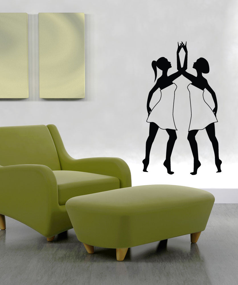 Vinyl Wall Decal Sticker Lyrical Dancers #1295