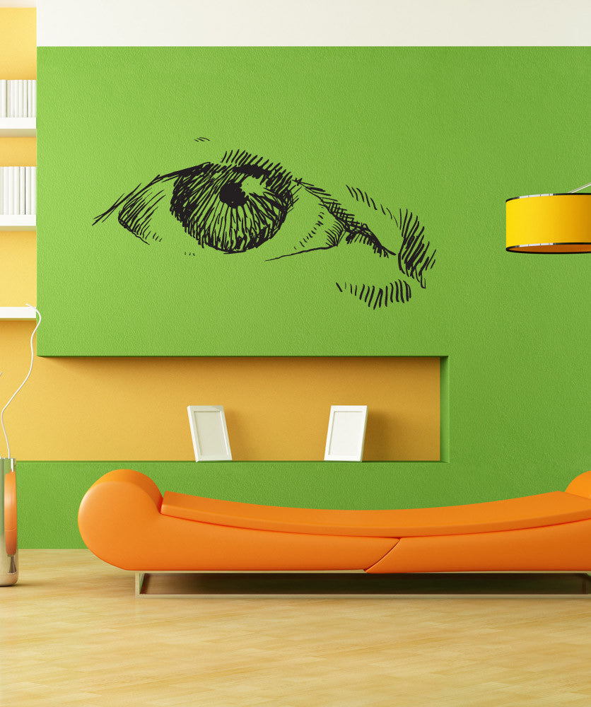 Vinyl Wall Decal Sticker Eye Sketch #1298