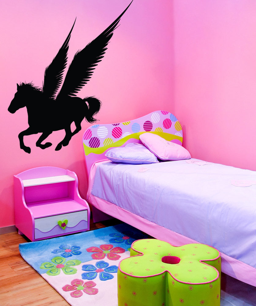 Vinyl Wall Decal Sticker Pegasus Silhouette #1307