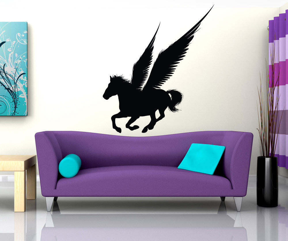 Vinyl Wall Decal Sticker Pegasus Silhouette 1307