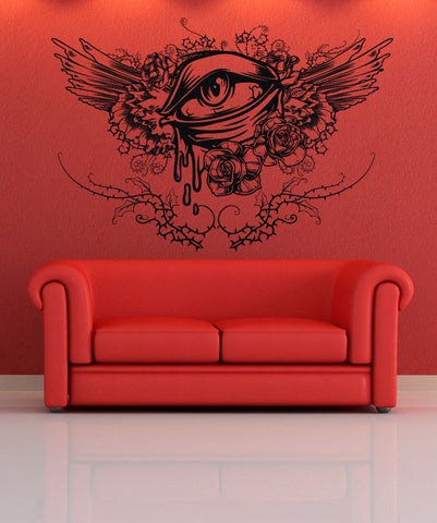 Vinyl Wall Decal Sticker Abstract Eye Wings #1309