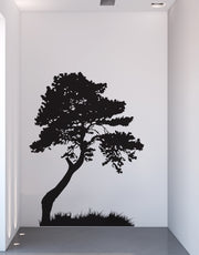 Tree Wall Decal with Grass. Modern Wall Decor. #130