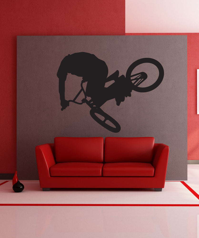 Vinyl Wall Decal Sticker BMX Rider #1311