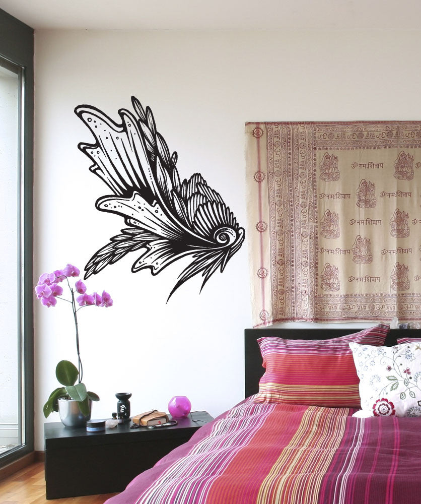 Vinyl Wall Decal Sticker Fish Fin Wing #1314