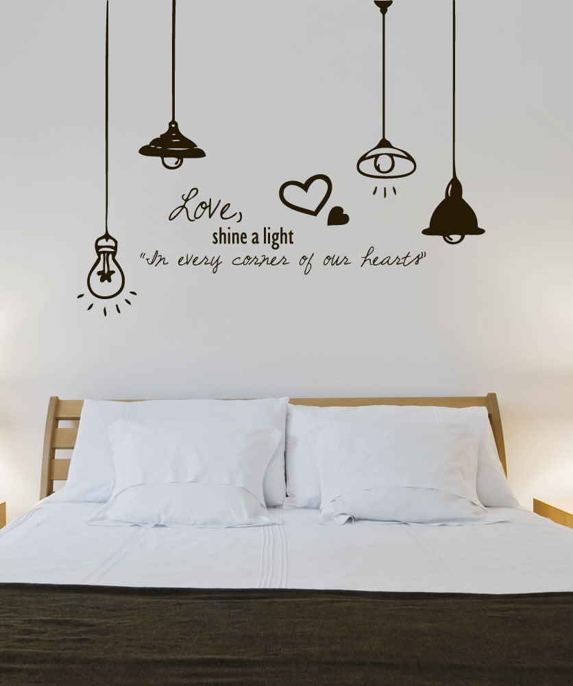 Vinyl Wall Decal Sticker Love Light #1324