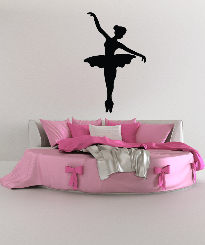 Vinyl Wall Decal Sticker Graceful Ballerina Silhouette #1327