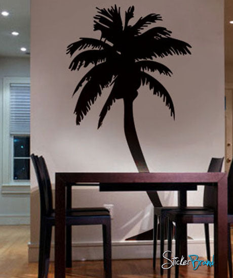 palm tree wall decal palm tree wall stickers. Black Bedroom Furniture Sets. Home Design Ideas