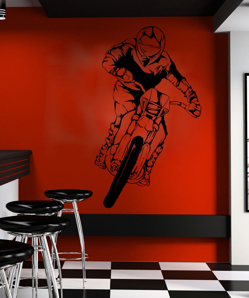 Vinyl Wall Decal Sticker Motocross Ride #1337