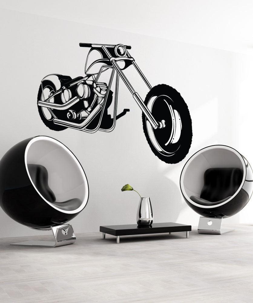 Vinyl Wall Decal Sticker Cruiser Motorcycle #1341