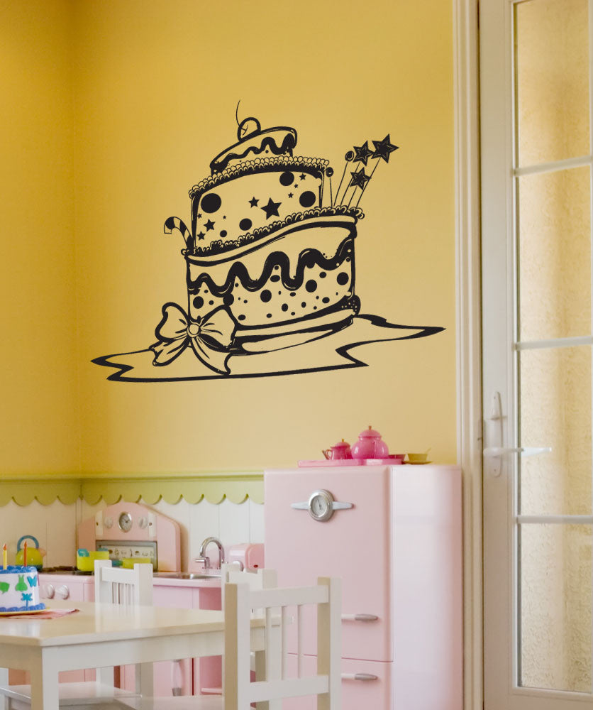 Vinyl Wall Decal Sticker Decorative Cake #1343
