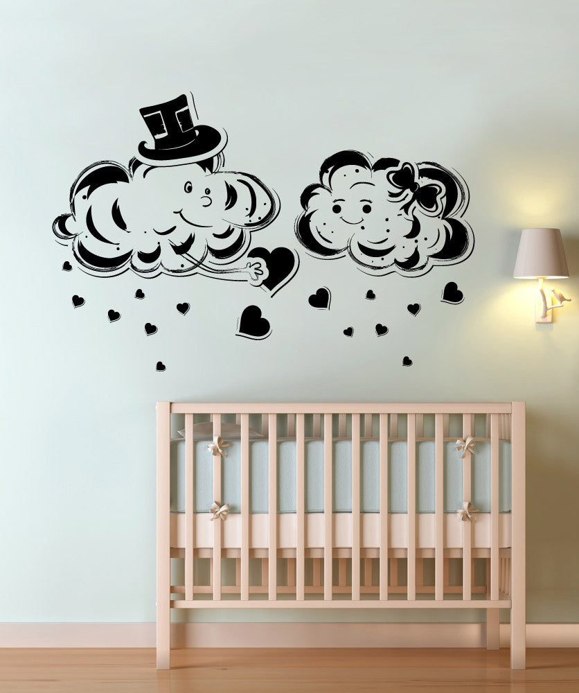 Vinyl Wall Decal Sticker Love Clouds #1345