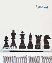Vinyl Wall Art Decal Sticker Chess Board Pieces #135