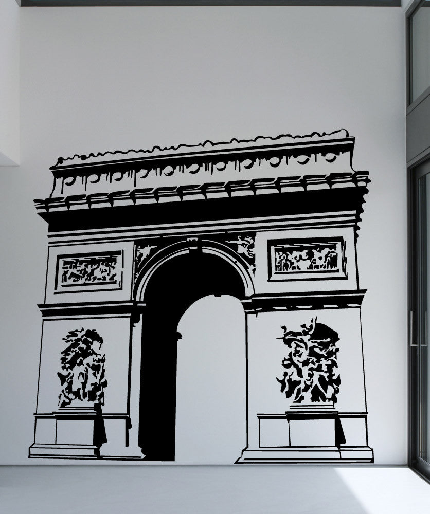 Vinyl Wall Decal Sticker Arc De Triomphe #1361