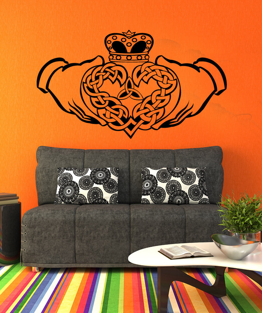 Vinyl Wall Decal Sticker Celtic Claddagh #1367