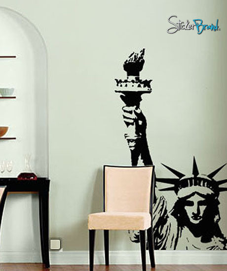 Vinyl Wall Art Decal Sticker Statue Of Liberty #136