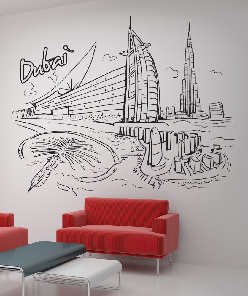 Vinyl Wall Decal Sticker Dubai #1375