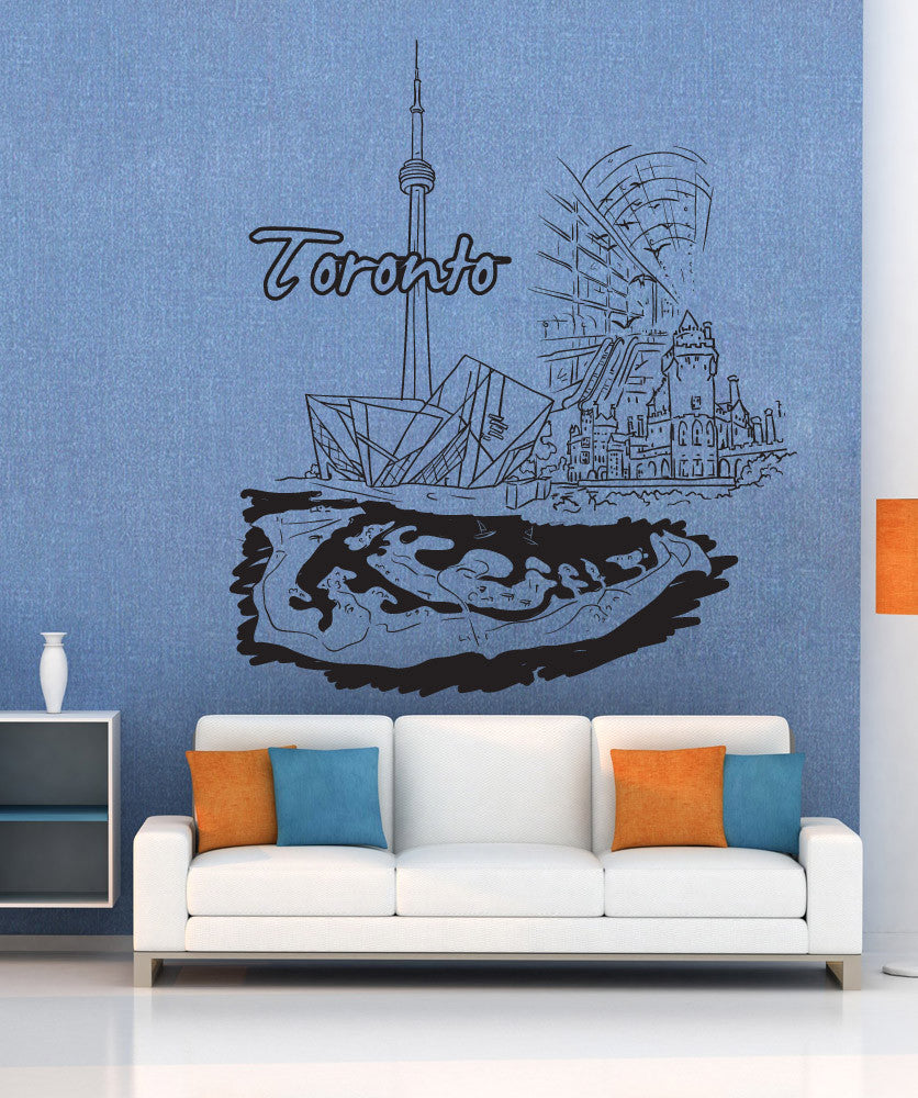 Vinyl Wall Decal Sticker Toronto #1378