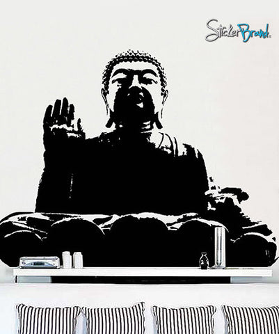 Vinyl Wall Art Decal Sticker Chinese Buddha Statue #137