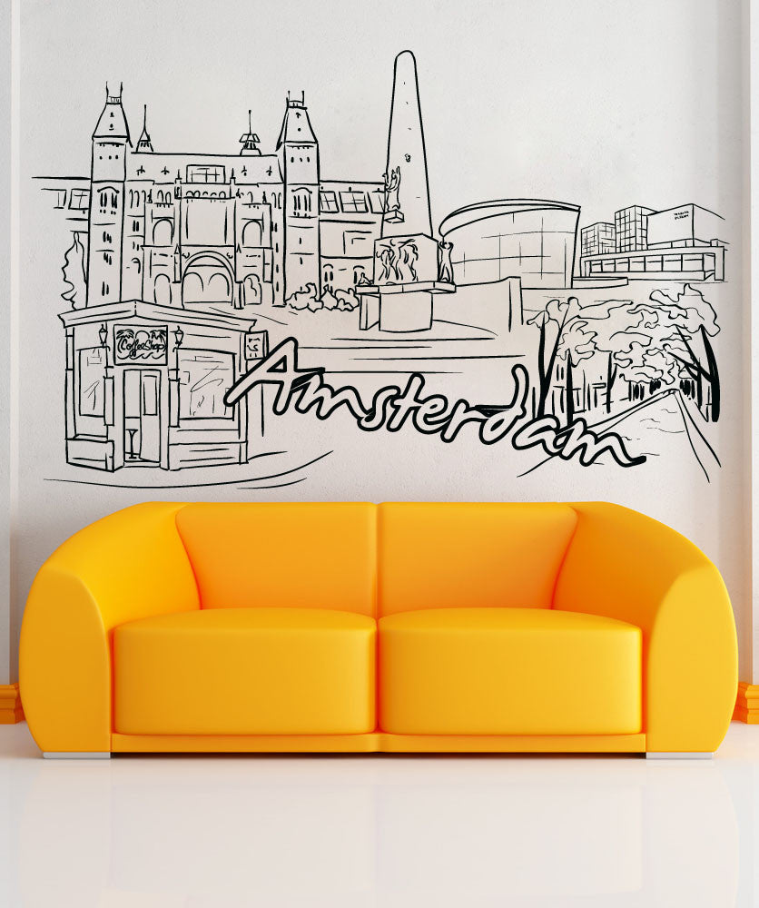 Vinyl Wall Decal Sticker Amsterdam #1385