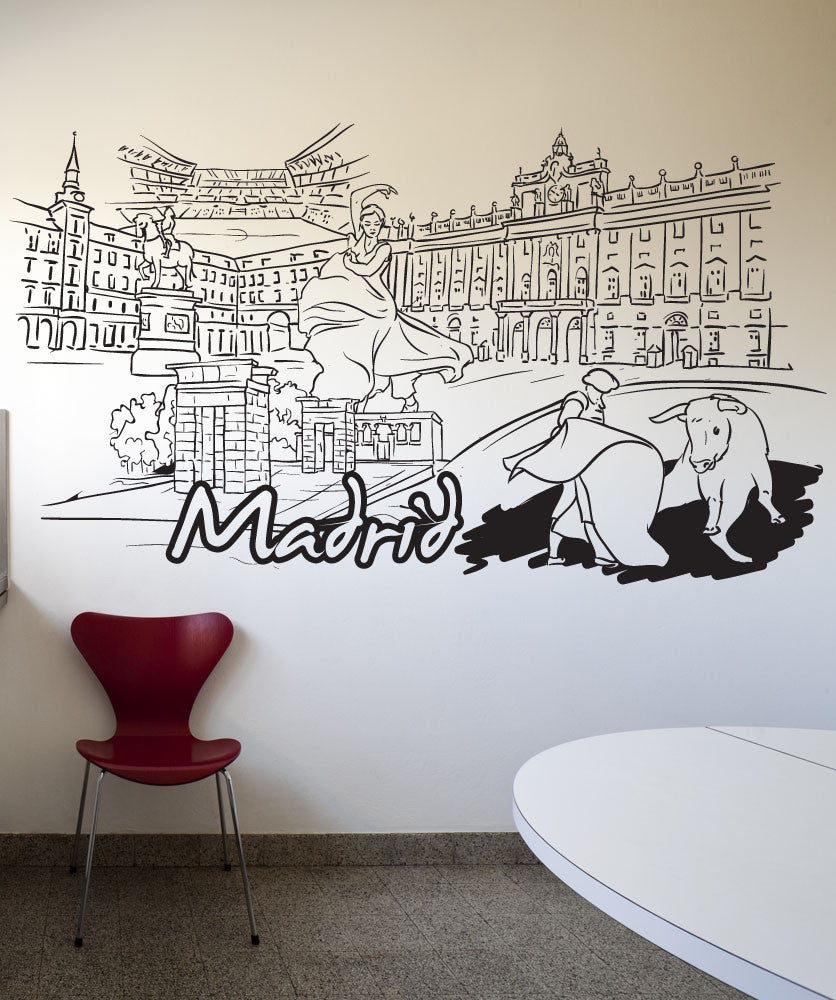 Vinyl Wall Decal Sticker Madrid #1387