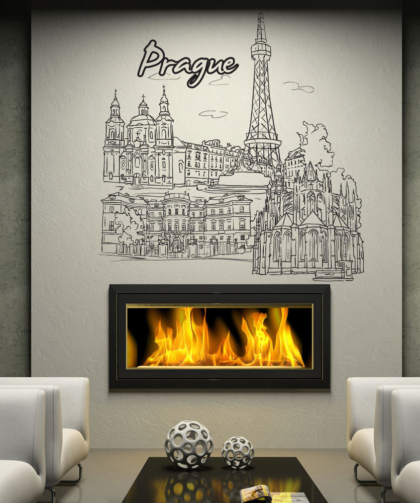 Vinyl Wall Decal Sticker Prague #1388