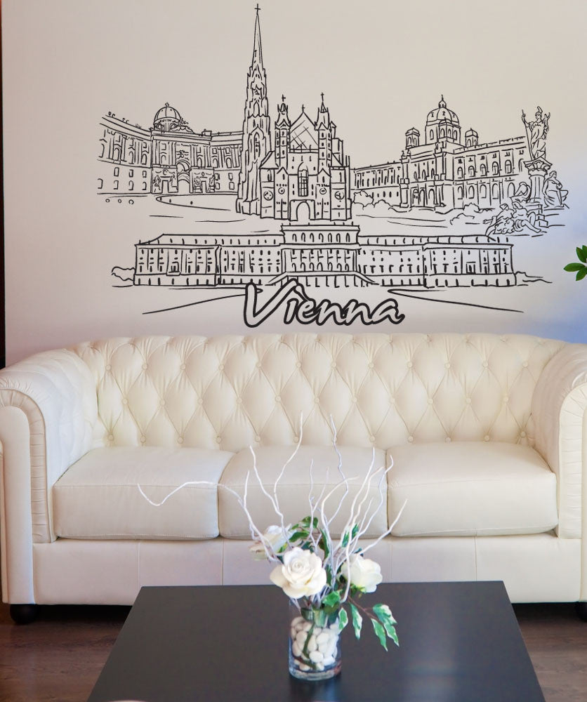 Vinyl Wall Decal Sticker Vienna #1389