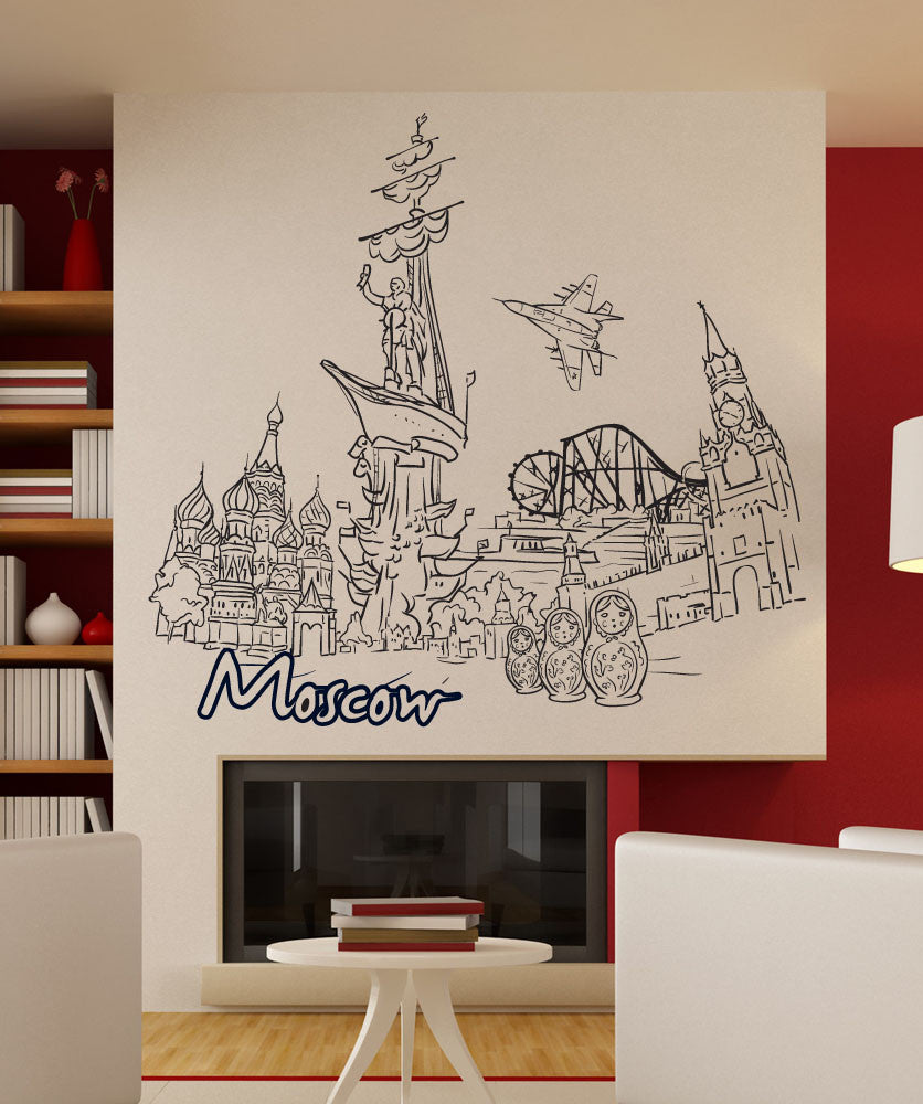 Vinyl Wall Decal Sticker Moscow #1390