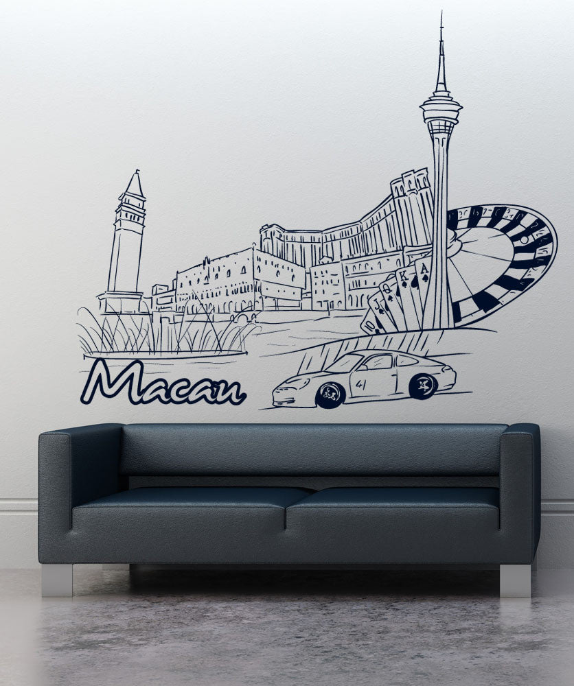 Vinyl Wall Decal Sticker Macau #1391
