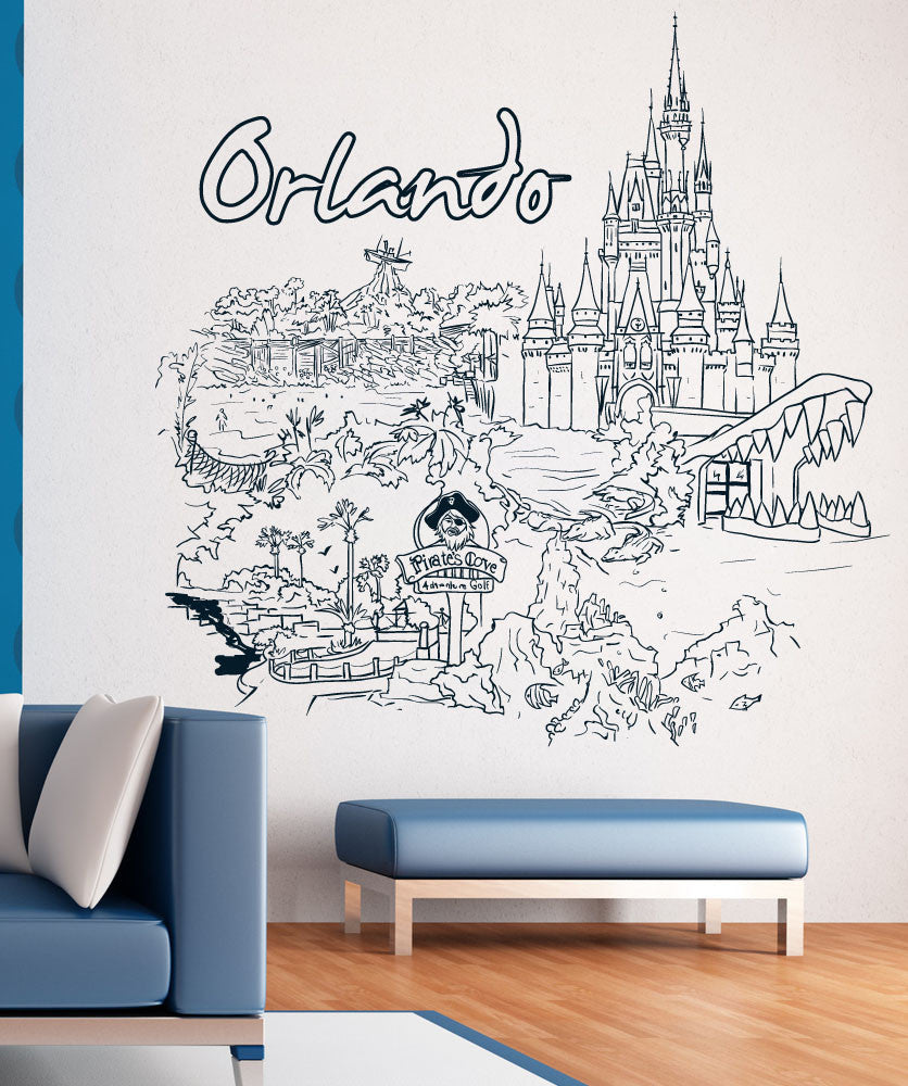 Vinyl Wall Decal Sticker Orlando #1393