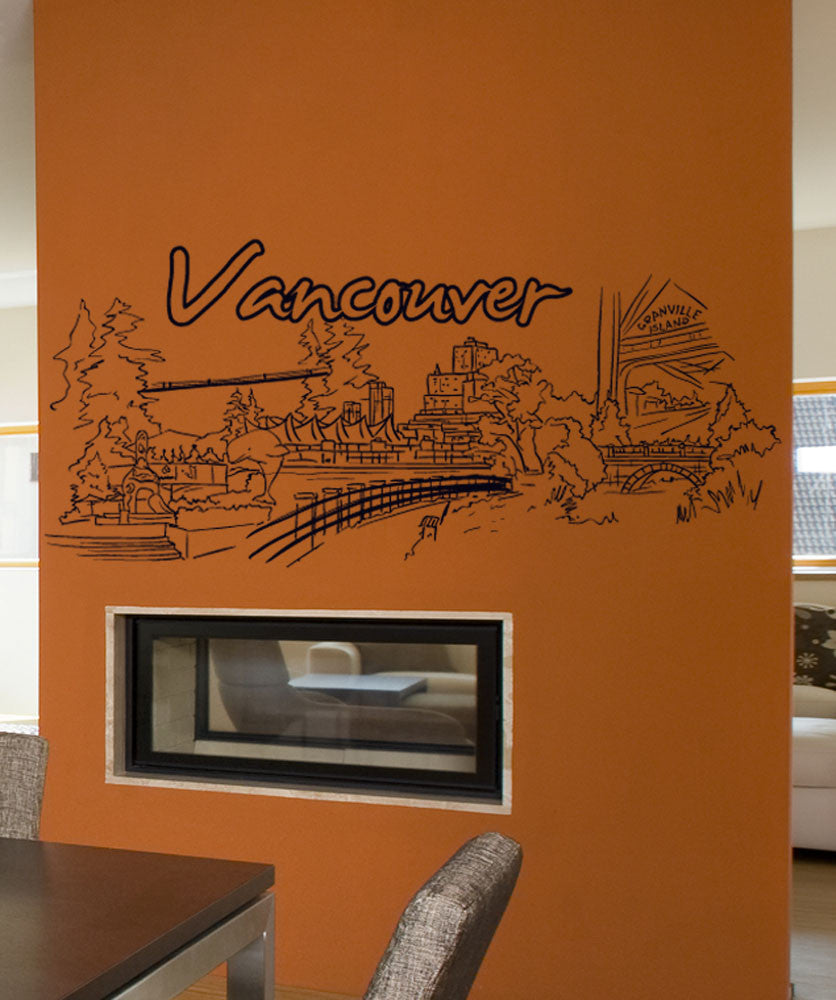 Vinyl Wall Decal Sticker Vancouver #1400