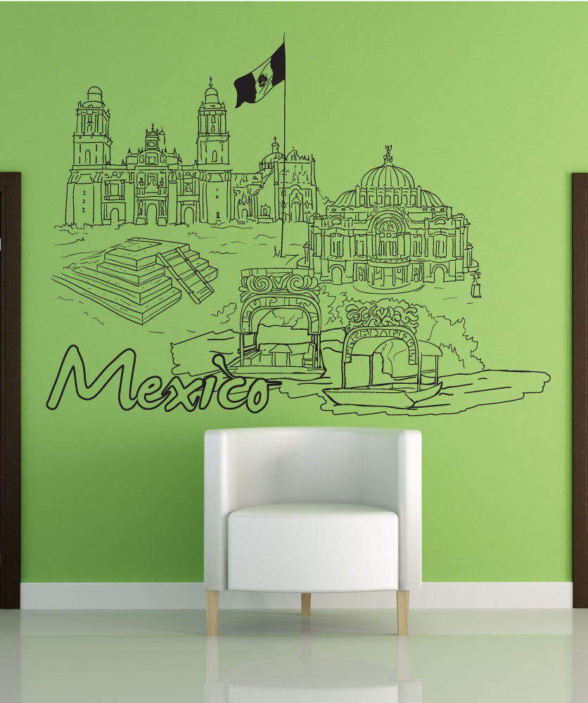 Vinyl Wall Decal Sticker Mexico #1401