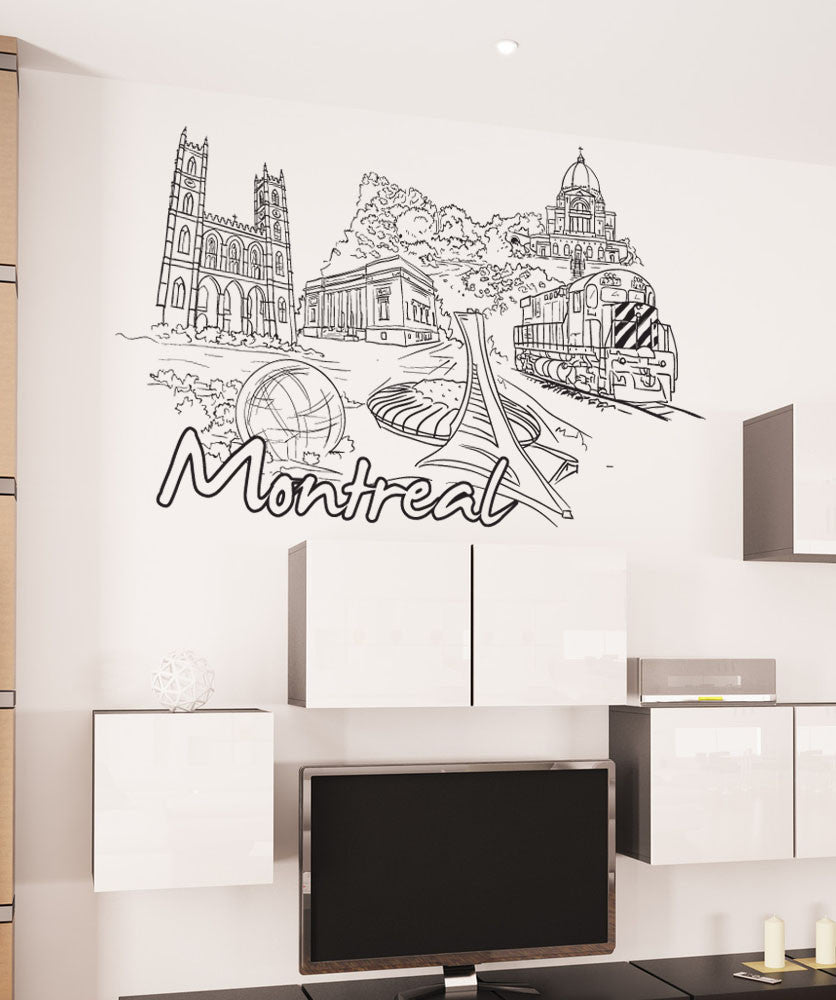 Vinyl Wall Decal Sticker Montreal #1403