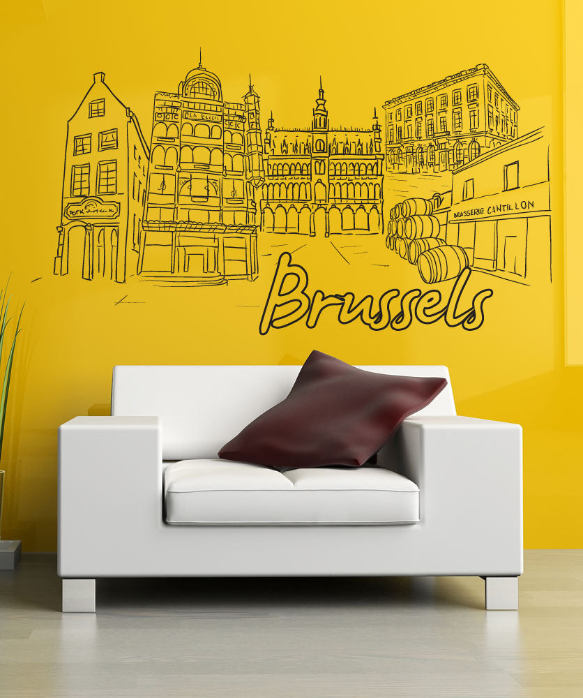 Vinyl Wall Decal Sticker Brussels #1404