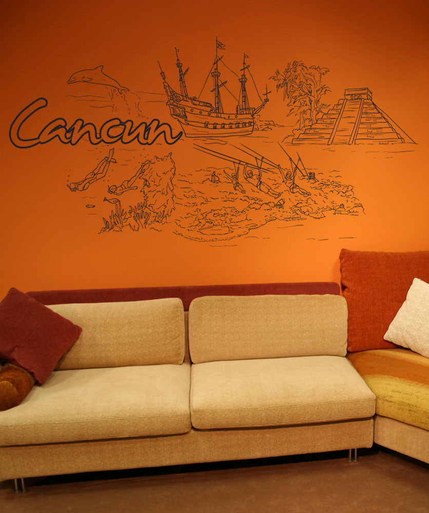 Vinyl Wall Decal Sticker Cancun #1405