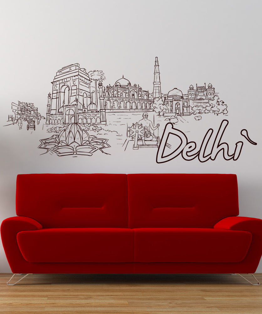 Vinyl Wall Decal Sticker Delhi #1407