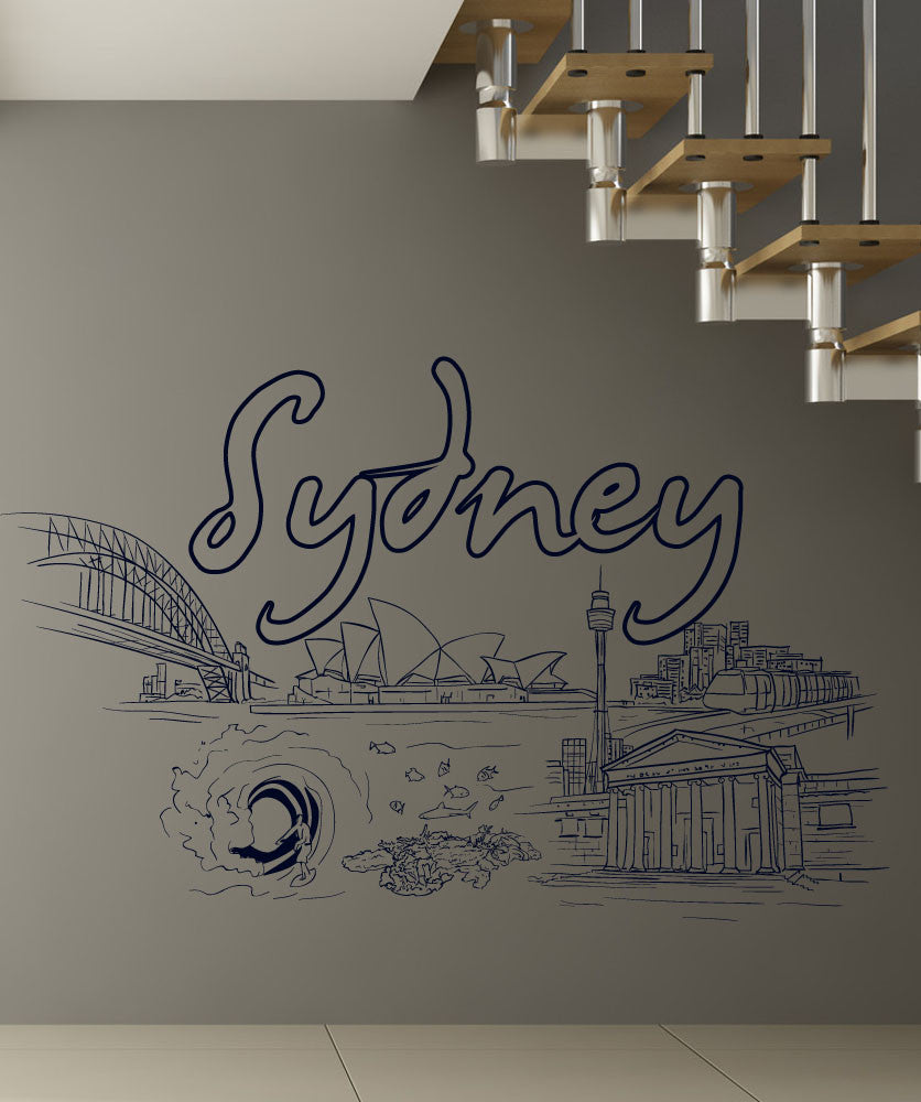 Vinyl Wall Decal Sticker Sydney #1410