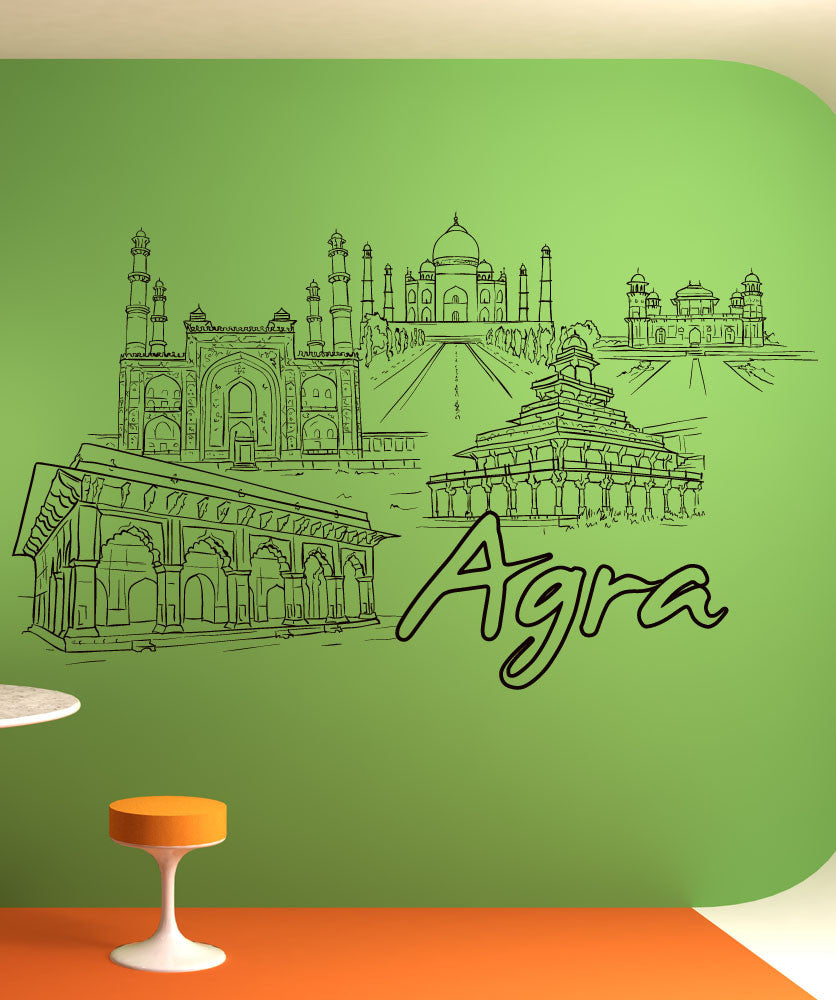 Vinyl Wall Decal Sticker Agra #1419