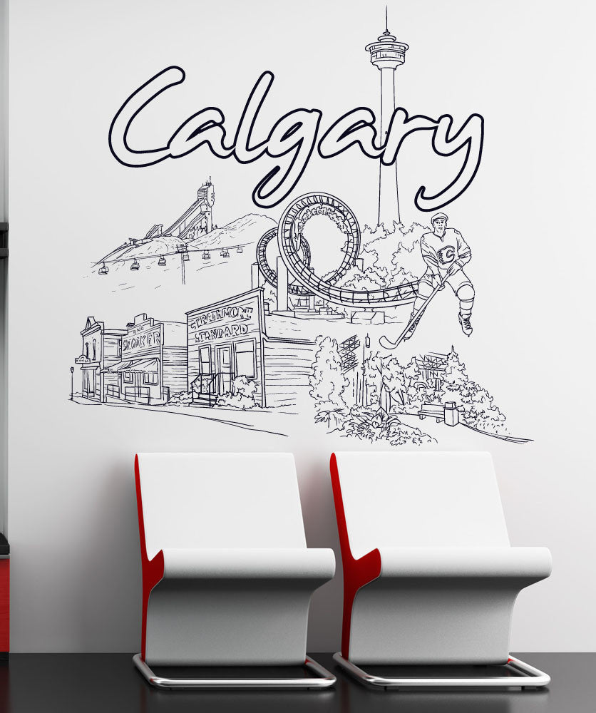 Vinyl Wall Decal Sticker Calgary 1420