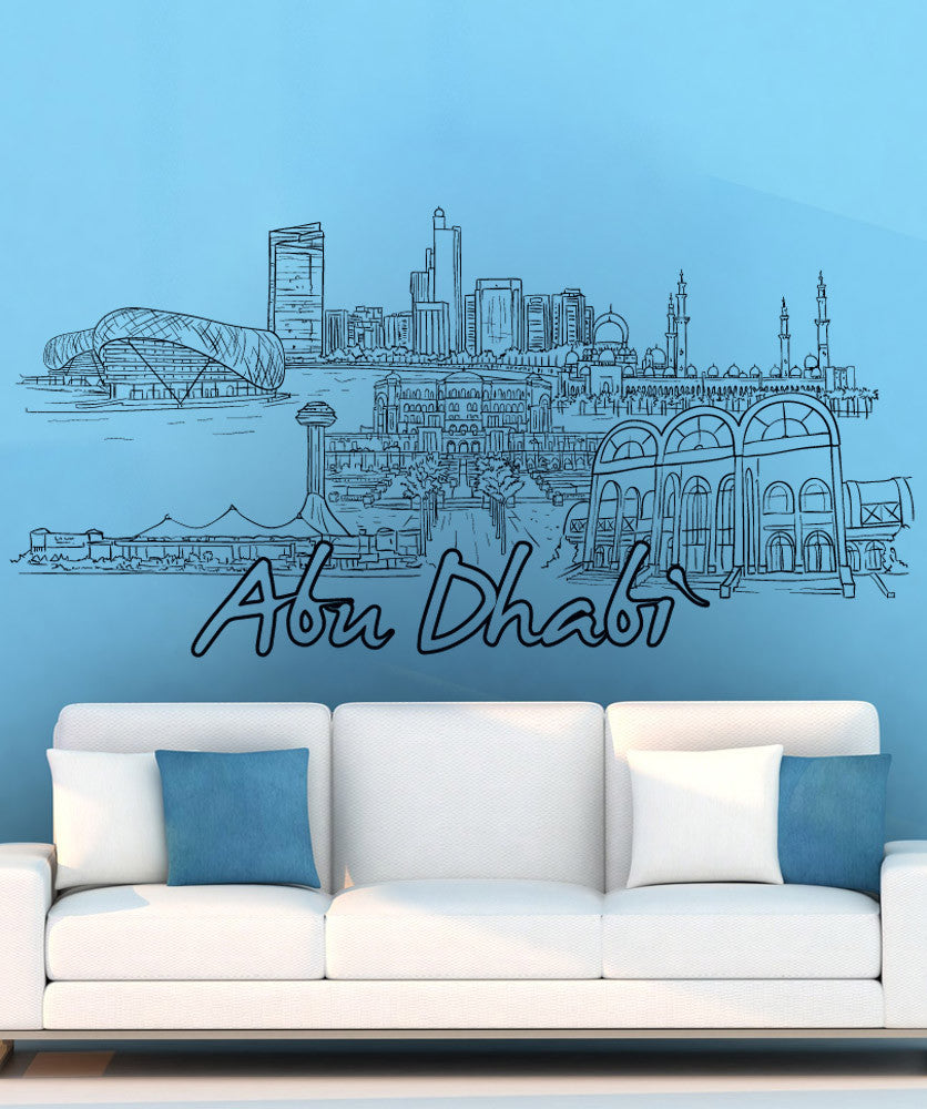 Vinyl Wall Decal Sticker Abu Dhabi #1427