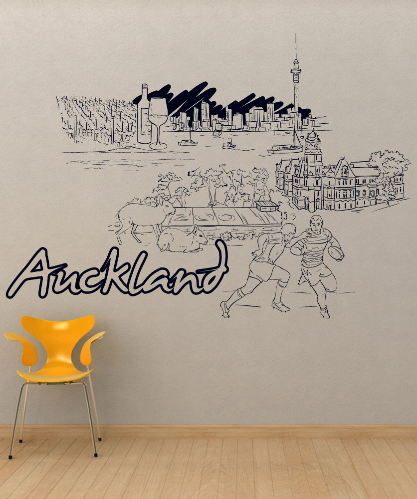 Vinyl Wall Decal Sticker Auckland #1430