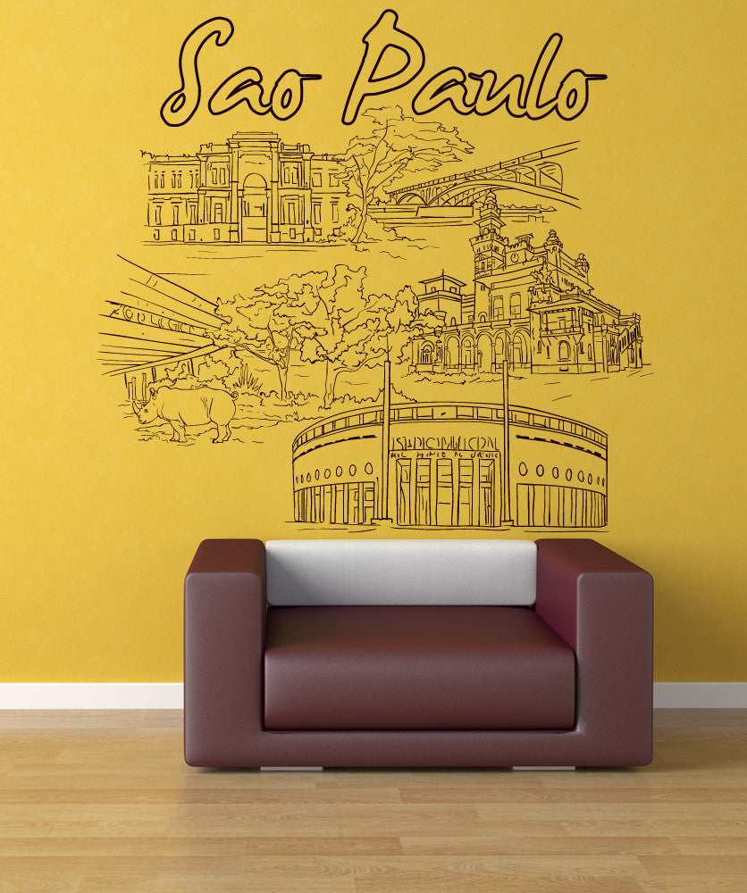 Vinyl Wall Decal Sticker Sao Paulo #1431