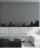 Vinyl Wall Decal Sticker Japan Architecture Silhouette #1438