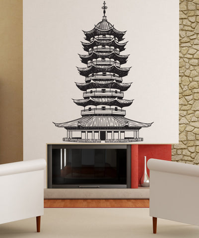 Vinyl Wall Decal Sticker Japanese Pagoda #1439