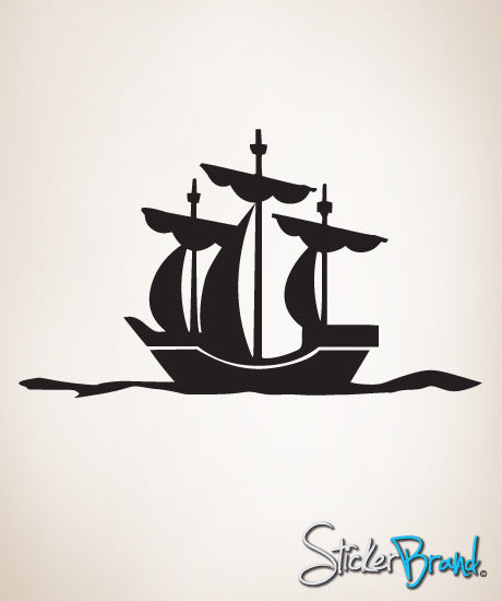 Vinyl Wall Art Decal Sticker Pirate Ship Decoration #143