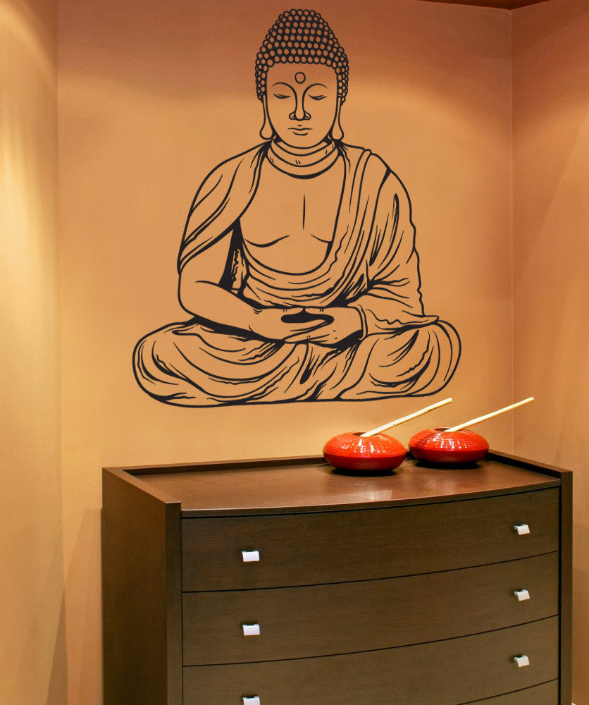 Buddha Wall Decal Buddha Wall Sticker Stickerbrand