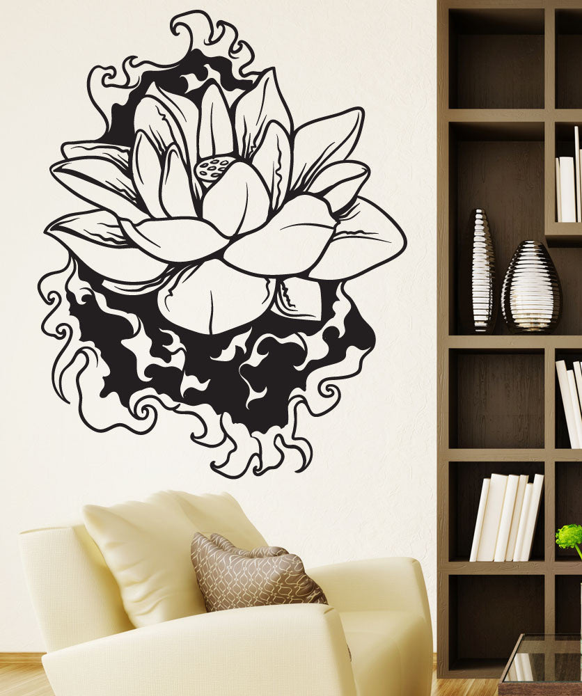 Vinyl Wall Decal Sticker Water Lotus #1445